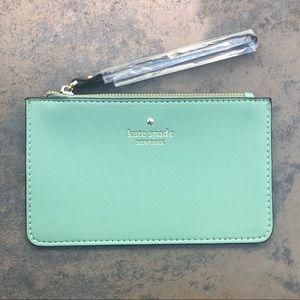 NWT Mint Green Kate Spade Wristlet Wallet